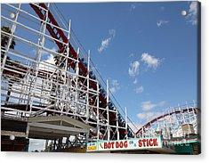 Giant Dipper At The Santa Cruz Beach Boardwalk California 5d23883 Acrylic Print by Wingsdomain Art and Photography