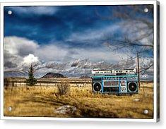 Giant Idaho Radio Tilt Shift Acrylic Print by For Ninety One Days