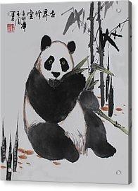 Acrylic Print featuring the photograph Giant Panda by Yufeng Wang
