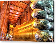 Giant Reclining Buddha Inside Temple Acrylic Print by Jaynes Gallery