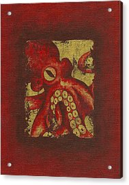 Giant Red Octopus Acrylic Print