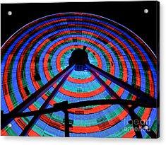 Giant Wheel Acrylic Print by Mark Miller