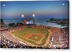 Giants Ballpark At Night Acrylic Print by Shawn Everhart