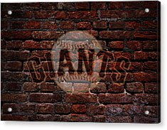 Giants Baseball Graffiti On Brick  Acrylic Print