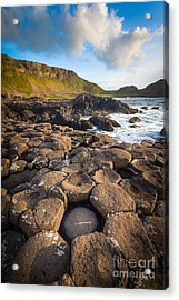 Giant's Causeway Circle Of Stones Acrylic Print by Inge Johnsson