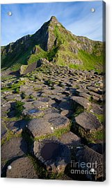 Giant's Causeway Green Peak Acrylic Print by Inge Johnsson