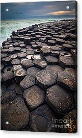 Giant's Causeway Pillars Acrylic Print by Inge Johnsson