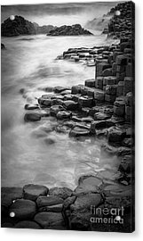 Giant's Causeway Waves  Acrylic Print by Inge Johnsson