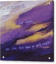 Gibran's But Never Poem Acrylic Print by Ginny Gaura