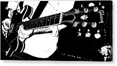Gibson Guitar Graphic Acrylic Print by Chris Berry