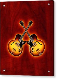 Gibson Jazz Acrylic Print by Doron Mafdoos