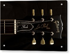 Gibson Les Paul Model Acrylic Print by Maj Seda