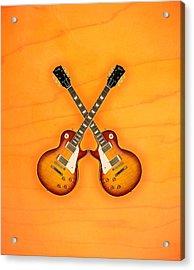 Gibson Les Paul Standard   Acrylic Print by Doron Mafdoos