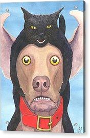 Giddyup Pink Dog Acrylic Print by Catherine G McElroy