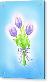 Acrylic Print featuring the drawing Gift by Keiko Katsuta