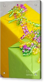 Gifts With Ribbon Acrylic Print by Amy Cicconi