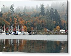 Gig Harbor In The Fog Acrylic Print