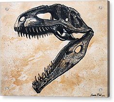 Giganotosaurus Skull Acrylic Print by Harm  Plat