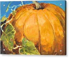 Gigantic Pumpkin Acrylic Print by Diane Ursin