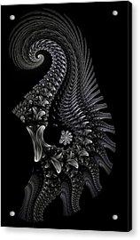 Acrylic Print featuring the digital art Gigeresque II by Lea Wiggins