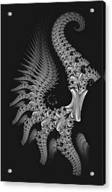 Acrylic Print featuring the digital art Gigeresque by Lea Wiggins