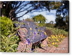 Gilcrease House Garden Flower Acrylic Print by Tamyra Ayles