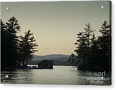 Gilford Harbor Boathouse Acrylic Print by David Gordon
