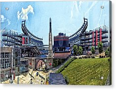 Gillette Stadium  Home Of The New England Patriots Acrylic Print
