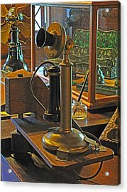 Gillette's Phone And Fan Acrylic Print by Barbara McDevitt