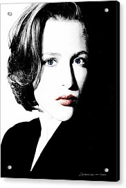 Gillian Anderson Acrylic Print