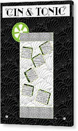 Gin And Tonic Cocktail Art Deco Swing   Acrylic Print