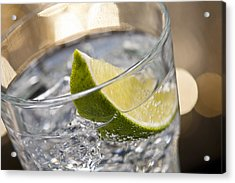 Gin Tonic Cocktail Acrylic Print by Ulrich Schade