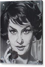 Gina Lollobrigida Acrylic Print by Sean Connolly