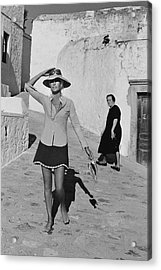 Ginette Camo In Patmos Acrylic Print by Henry Clarke