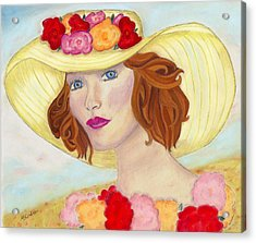 Acrylic Print featuring the painting Ginger by Arlene Crafton