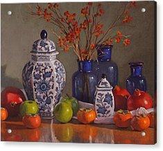 Ginger Jars Acrylic Print by Sarah Blumenschein