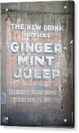 Ginger-mint Julep Acrylic Print by Pamela Schreckengost