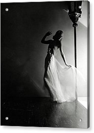 Ginger Rogers Wearing An Evening Gown Acrylic Print