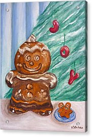 Gingerbread Cookies Acrylic Print