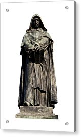 Acrylic Print featuring the photograph Giordano Bruno by Fabrizio Troiani