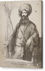 Giovanni Belzoni Acrylic Print by British Library
