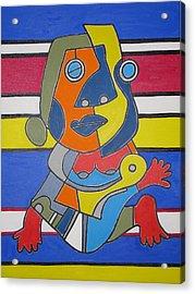 Gipsy Woman Acrylic Print by Daniel Burtea