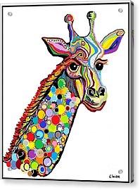 Giraffe Acrylic Print by Eloise Schneider