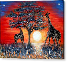Giraffes. Inspirations Collection. Acrylic Print