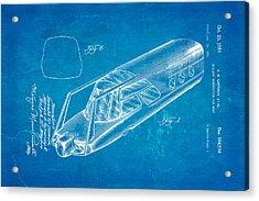 Girardy Railway Observation Car Patent Art 1951 Blueprint Acrylic Print by Ian Monk