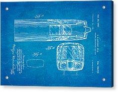 Girardy Railway Observation Car Patent Art  3 1951 Blueprint Acrylic Print by Ian Monk
