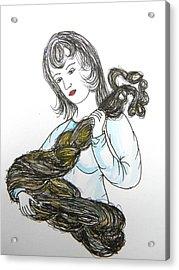 Girl And Tow Acrylic Print