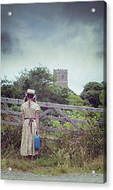 Girl At Gate Acrylic Print by Joana Kruse