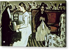 Girl At The Piano Overture To Tannhauser, 1868-69 Oil On Canvas Acrylic Print