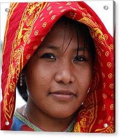 Girl From Panama Acrylic Print